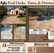 allied outdoor solutions carvestone concrete overlay